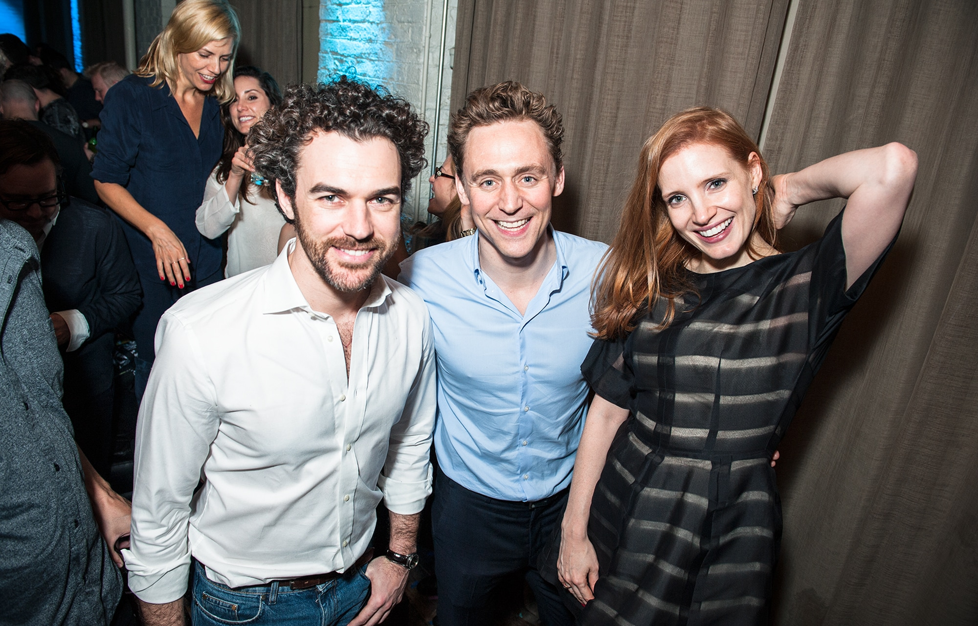 Gian Luca Passi de Preposulo, Tom Hiddleston & Jessica Chastain
